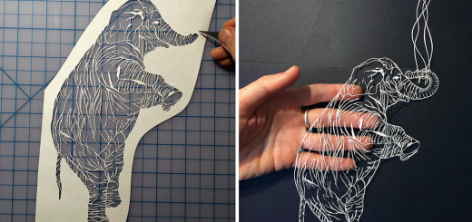 Beauty and Intricate Cut Paper Illustrations by Maude White