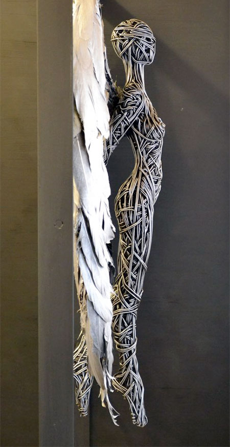 Unique Sclupture Art by Richard Stainthorp Creative Wire Sculpture Art by Richard Stainthorp