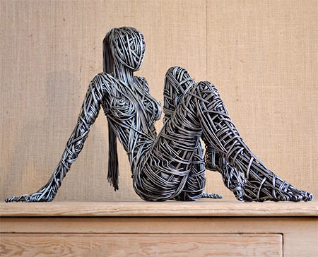 Unique and Creative Wire Sclupture Art by Richard Stainthorp Home V.2