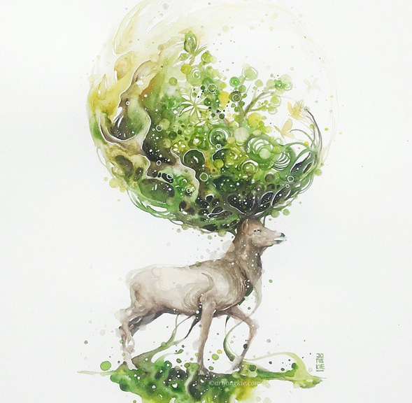 Wonderful Watercolor Paintings Gorgeous Watercolor Paintings by Luqman Reza Mulyono
