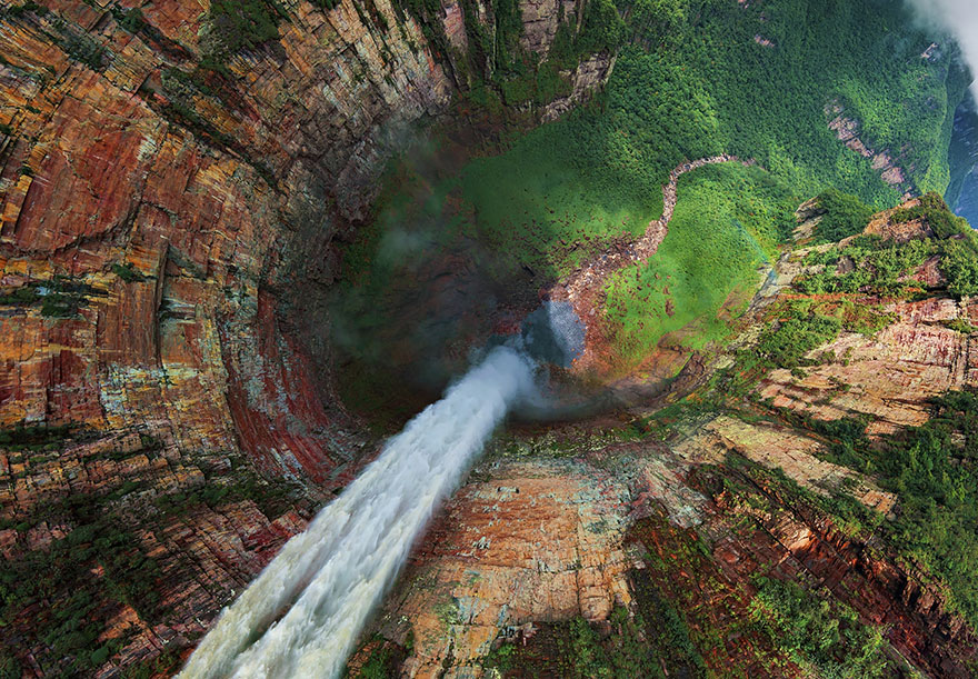 Aerial Photography Of Churun meru waterfall venezuela 02 Russian Photographers Show How Birds See Our World And It'll Leave You Breathless