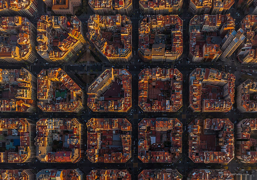 Aerial Photography of Barcelona Spain Russian Photographers Show How Birds See Our World And It'll Leave You Breathless