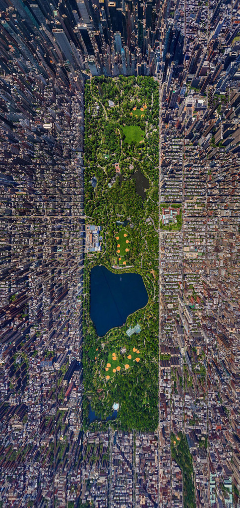 Aerial Photography of Central Park New York 484x1024 Russian Photographers Show How Birds See Our World And It'll Leave You Breathless