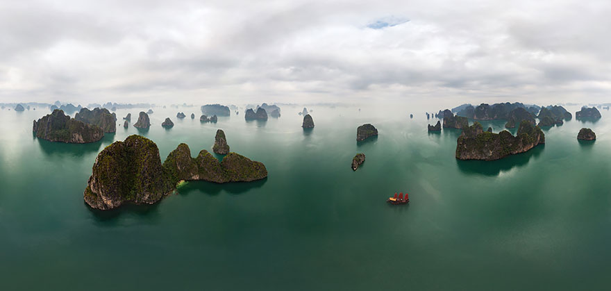 Aerial Photography of Halong bay Vietnam Russian Photographers Show How Birds See Our World And It'll Leave You Breathless