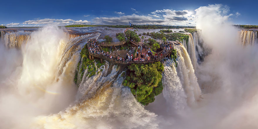 Aerial Photography of Iguasu Falls Argentina and brazil 02 Russian Photographers Show How Birds See Our World And It'll Leave You Breathless