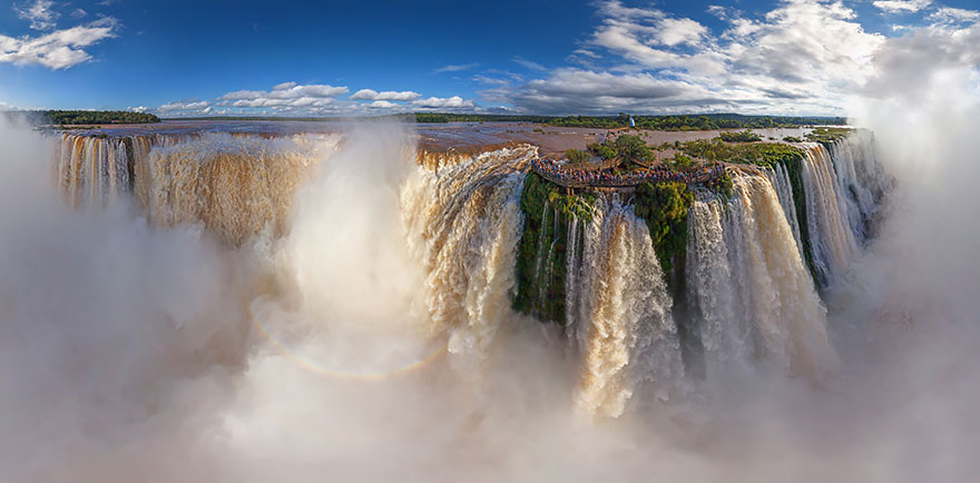 Aerial Photography of Iguasu Falls Argentina and brazil Russian Photographers Show How Birds See Our World And It'll Leave You Breathless