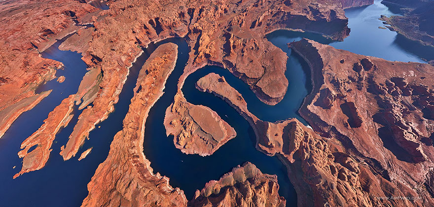 Aerial Photography of Lake Powell Utah Arizona USA Russian Photographers Show How Birds See Our World And It'll Leave You Breathless