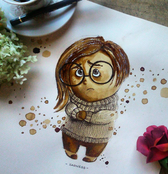 Amazing Coffee Stain Painting By Nuriamarq Stunning Coffee Stain Painting By Nuriamarq