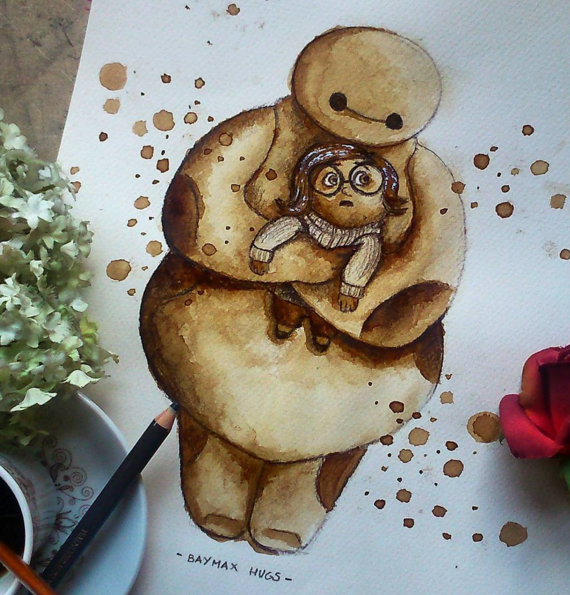 Coffee Stain Painting Art By Nuriamarq 77 Stunning Coffee Stain Painting By Nuriamarq