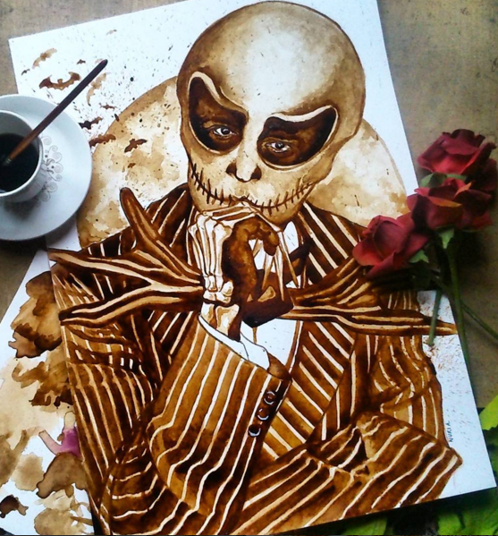 Creative Coffee Stain Painting Art 23 Stunning Coffee Stain Painting By Nuriamarq