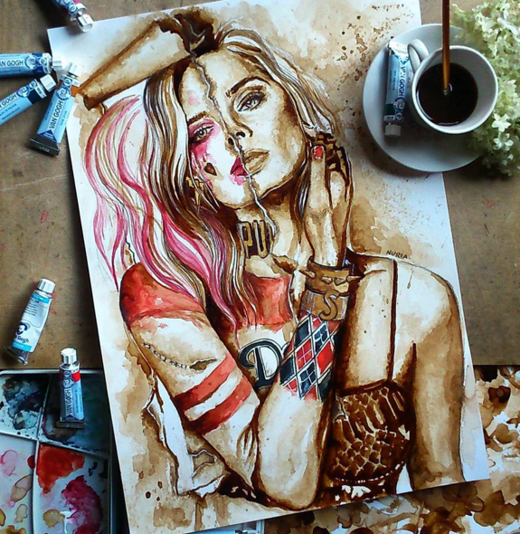 Creative Coffee Stain Painting Art 77 Stunning Coffee Stain Painting By Nuriamarq