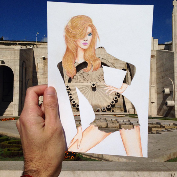 Creative Paper cutout art fashion dresses Creative Fashion Designs With Everyday Objects by Armenian Artist Edgar