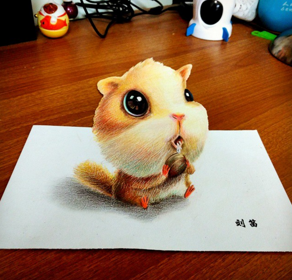 Cute Animals Drawing Artworks by Chinese Artist oliudio 1