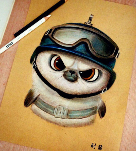 Cute Animals Drawing Artworks by Chinese Artist oliudio 2