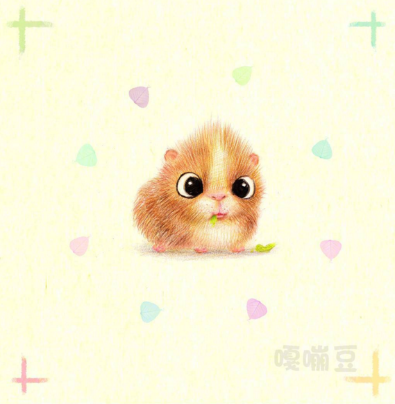 Cute Animals Pancil Drawing 01