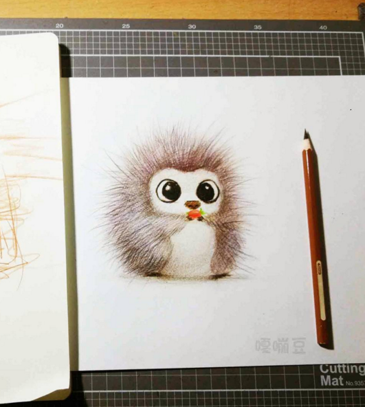 Cute Animals Pancil Drawing 02
