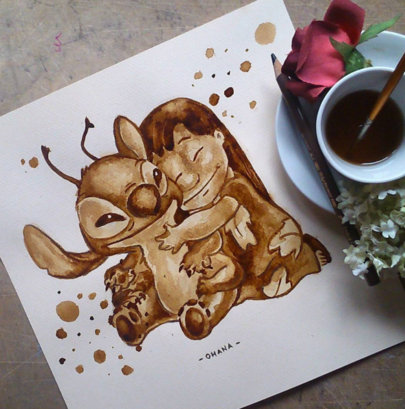 Cute Coffee Stain Painting By Nuriamarq 1 Stunning Coffee Stain Painting By Nuriamarq