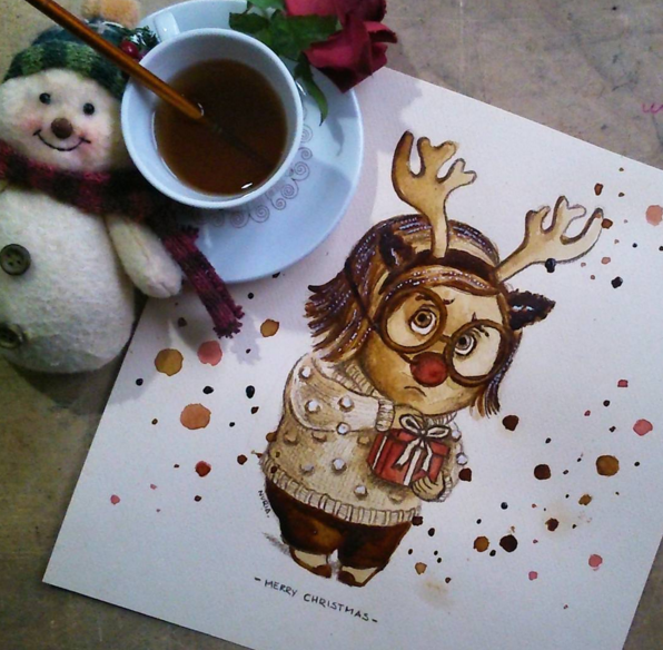 Cute Coffee Stain Painting By Nuriamarq 7 Stunning Coffee Stain Painting By Nuriamarq