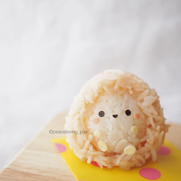 Cute Hedgehog Rice Balls I Make Adorable Rice Balls During My Free Time