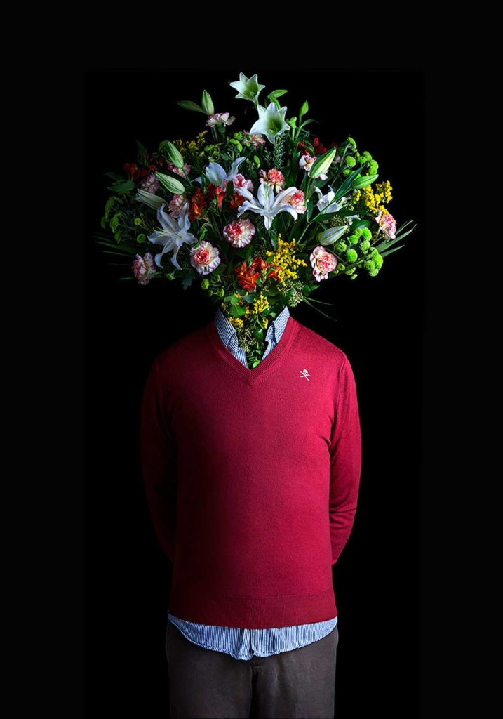Flower Dressed in Contemporary Outfits by Miguel Vallinas 02