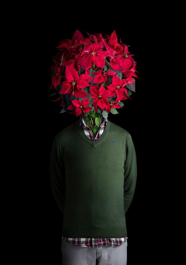 Flower Dressed in Contemporary Outfits by Miguel Vallinas 04