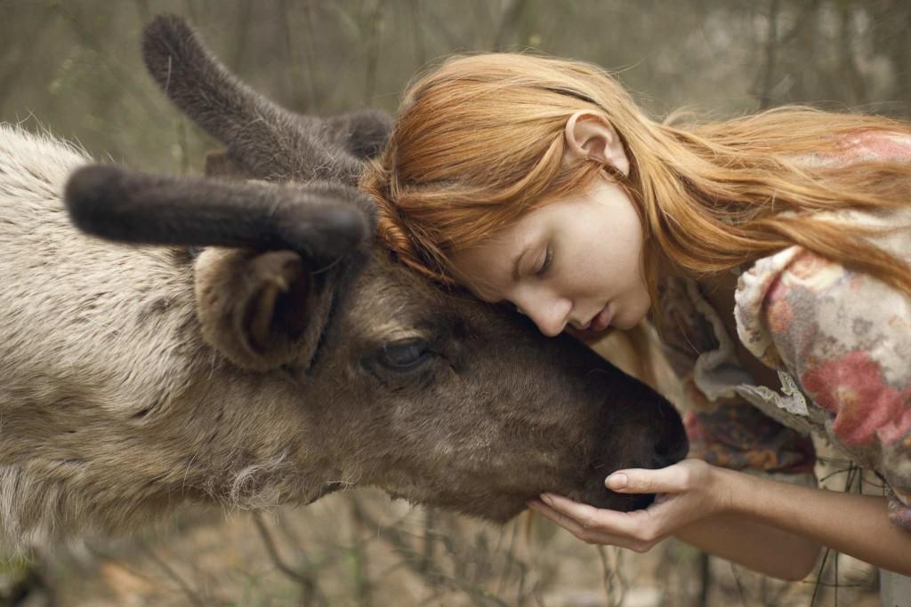 Human and Real Animals Photography by Katerina Plotnikova 1024x683 Fine Art Portraits Photography With Real Animals by Katerina Plotnikova