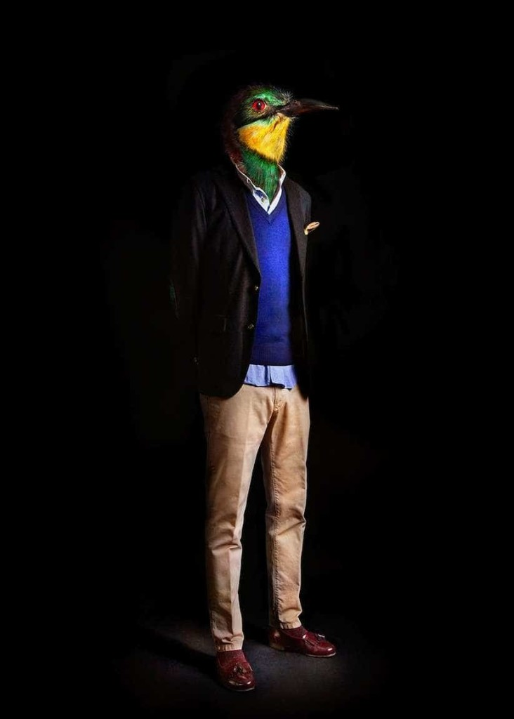 Human portraits that reveal the animal 732x1024 Animals Dressed in Contemporary Outfits by Miguel Vallinas
