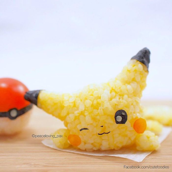 Pikachu Adorable Rice Balls I Make Adorable Rice Balls During My Free Time