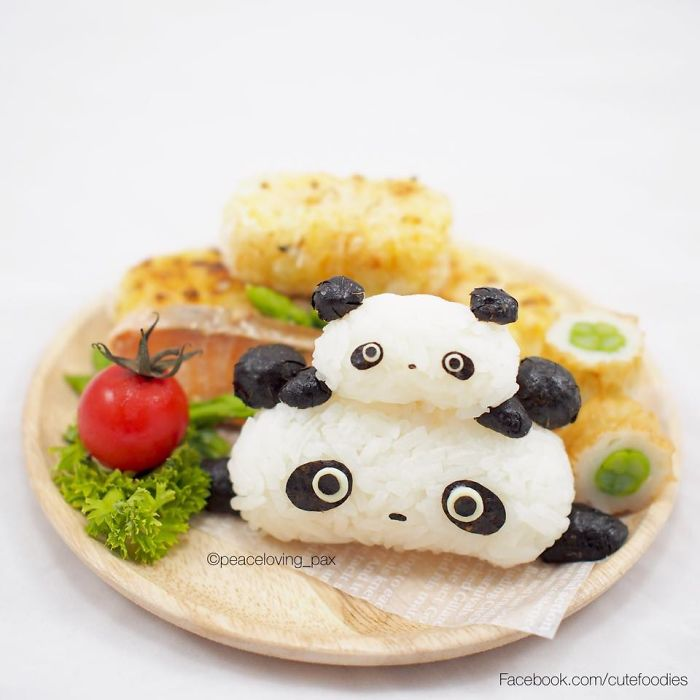 Tare Panda Family Rice Balls I Make Adorable Rice Balls During My Free Time