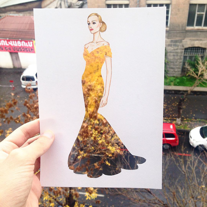 Unique Paper cutout art fashion dresses Creative Fashion Designs With Everyday Objects by Armenian Artist Edgar