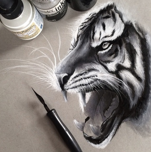 Wonderful Animals Realistic Pencil Drawing by Jonathan Martinez Stunning Realistic Pencil Drawing of Animals by Jonathan Martinez