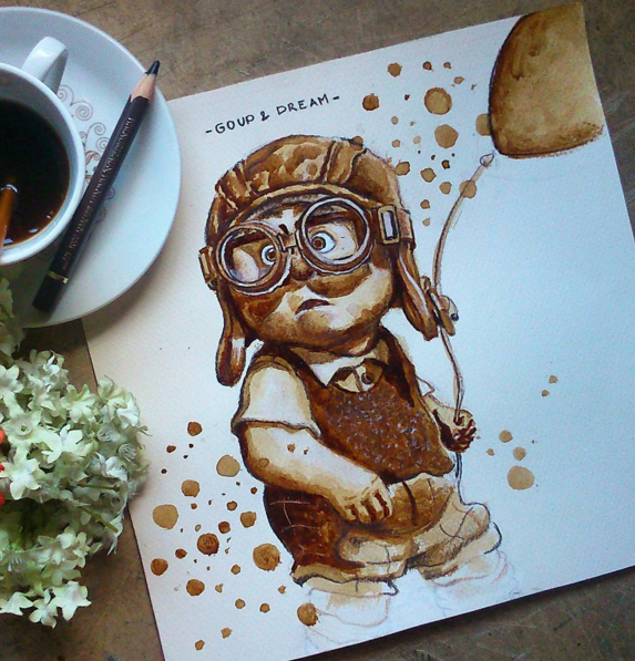 Wonderful Coffee Stain Painting By Nuriamarq 9 Stunning Coffee Stain Painting By Nuriamarq