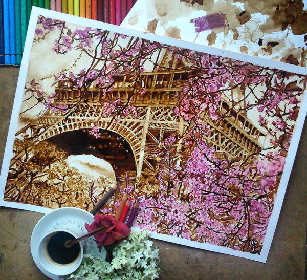 Wonderful Coffee Stain Painting By Nuriamarq Stunning Coffee Stain Painting By Nuriamarq