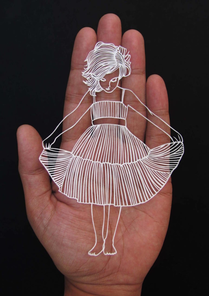 Beautiful Paper Cut Art from One Sheet of Paper 02