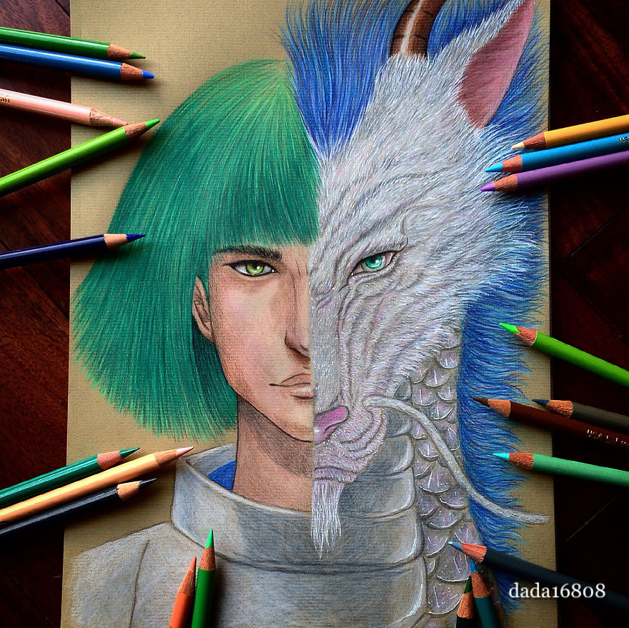 Creative Colored Character Drawing by Dada Creative Character Mashups Inspired By Hayao Miyazaki And Disney Movies