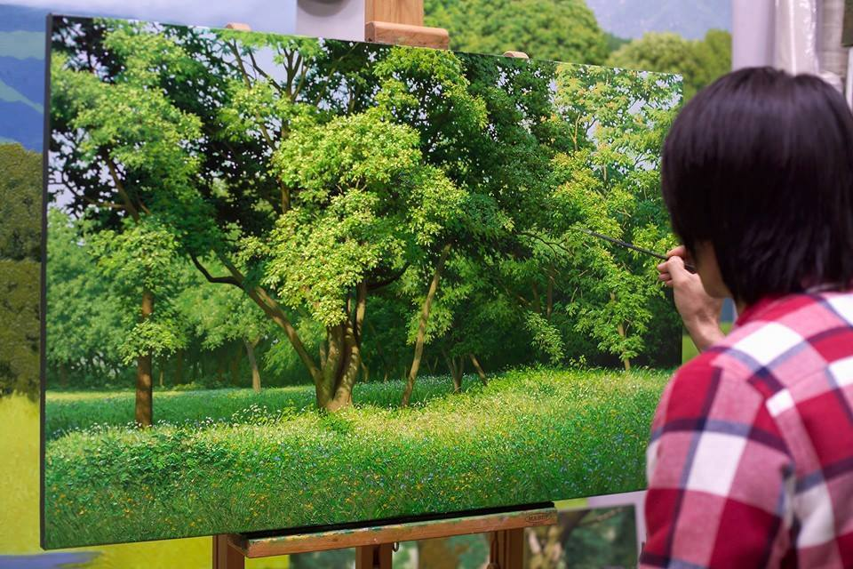 Detailed Nature Painting by Jung Hwan 99 Incredible Nature Painting by Jung Hwan