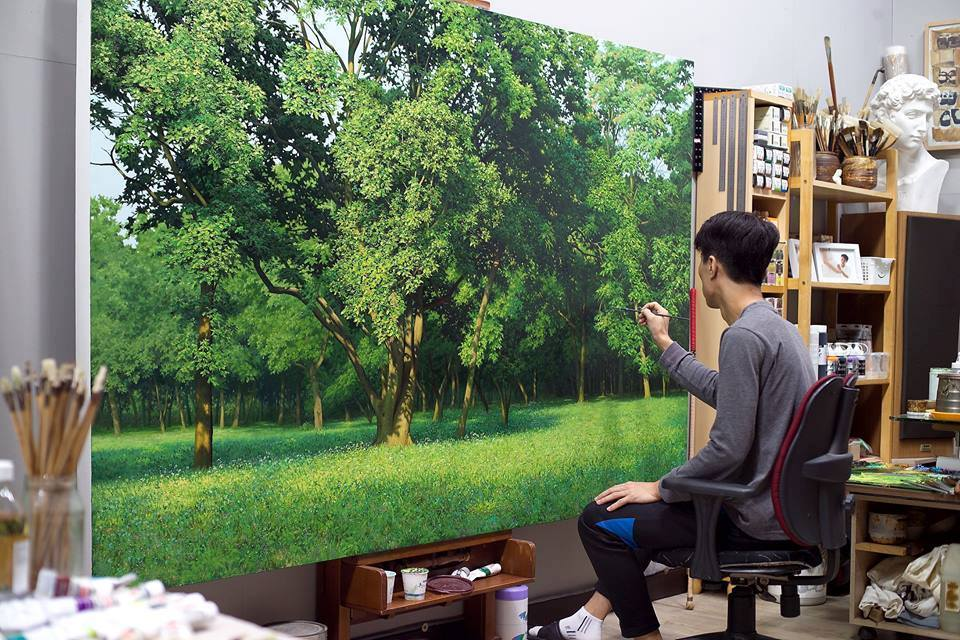 Incredible Nature Painting by Jung Hwan 02 Incredible Nature Painting by Jung Hwan