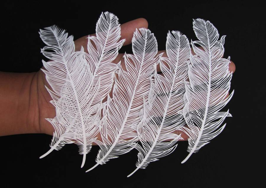 Incredible Paper Cut Art from One Sheet of Paper 01 Incredible Paper Cut Art from One Sheet of Paper