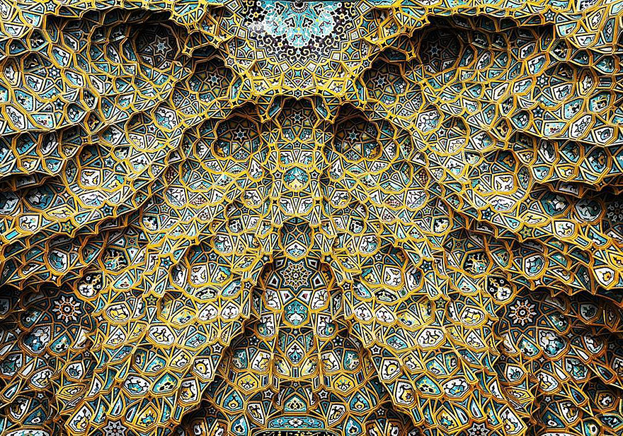 The Hypnotizing Beauty Of Iranian Mosque Ceilings 01 The Hypnotizing Beauty Of Iranian Mosque Ceilings