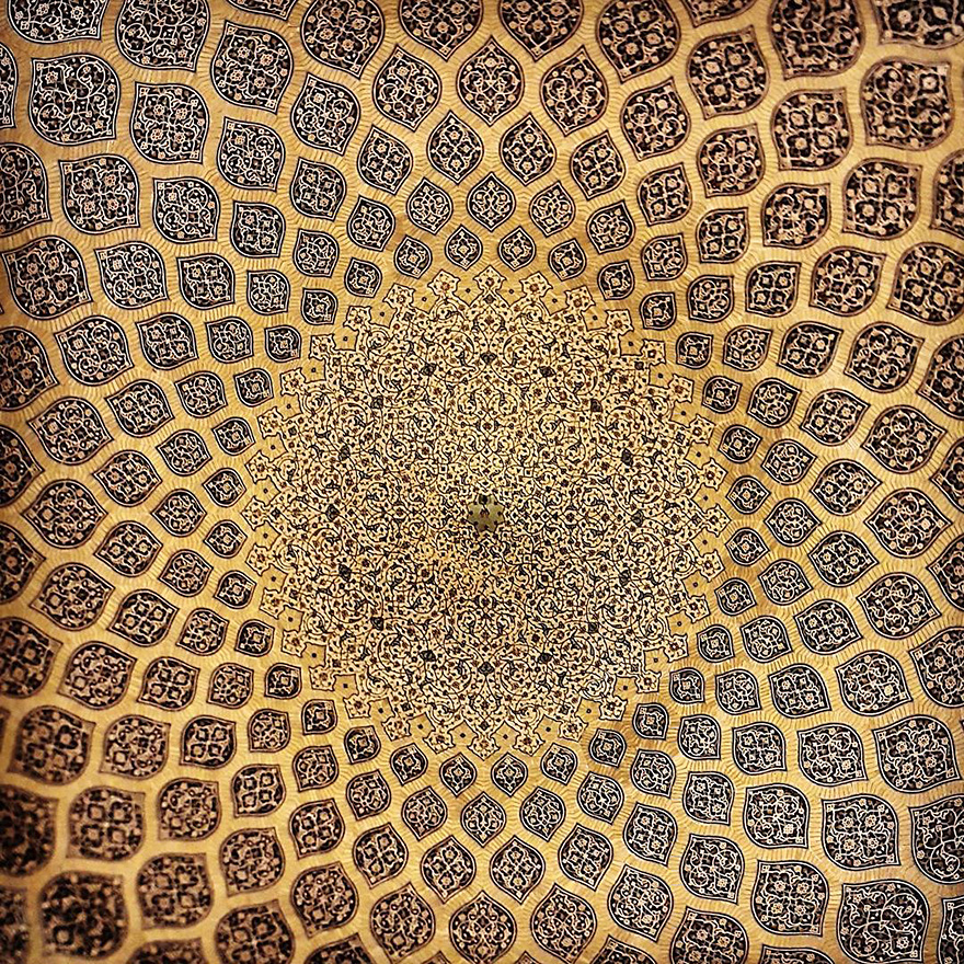 The Hypnotizing Beauty Of Iranian Mosque Ceilings 10 The Hypnotizing Beauty Of Iranian Mosque Ceilings