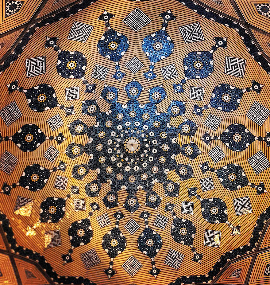 The Hypnotizing Beauty Of Iranian Mosque Ceilings 5 The Hypnotizing Beauty Of Iranian Mosque Ceilings