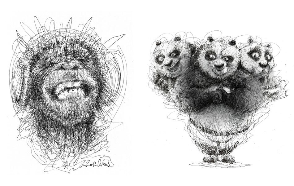 Wonderful Art with Pen Stroke Drawings by Erick Centeno
