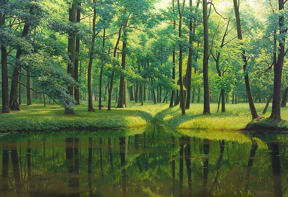 Wonderful Nature Painting by Jung Hwan 99 Incredible Nature Painting by Jung Hwan