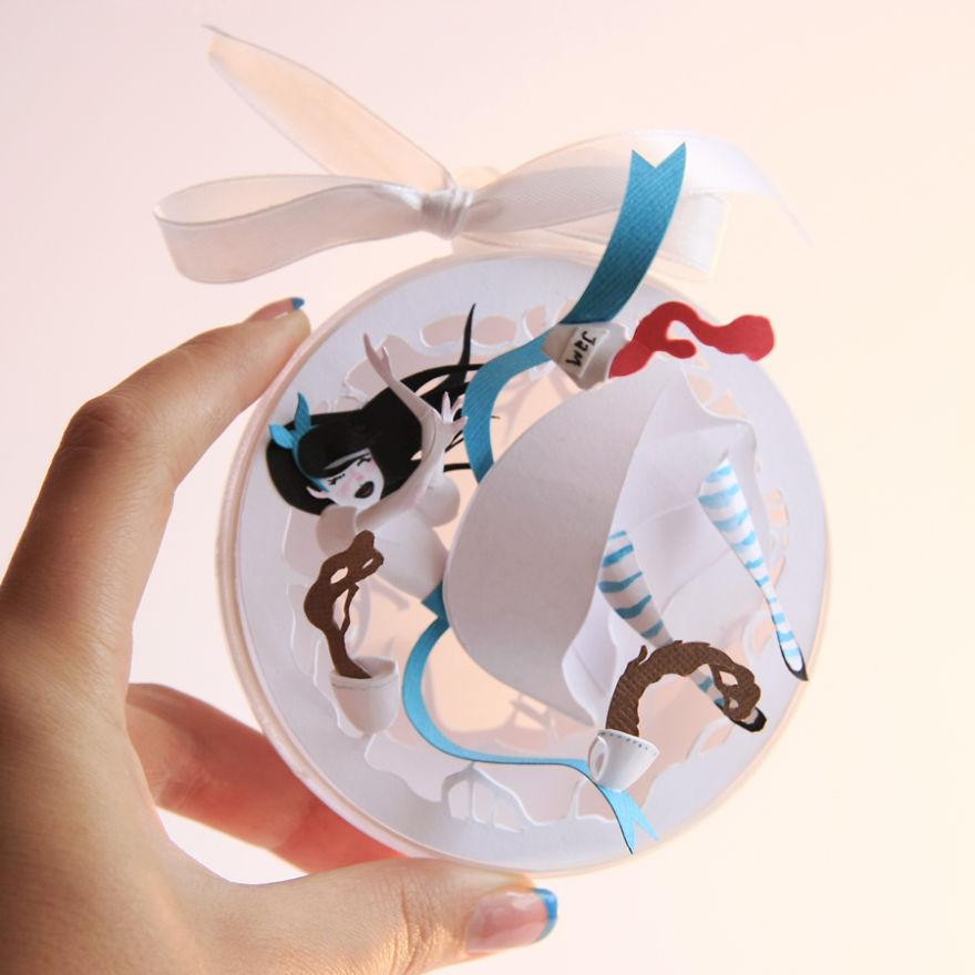 "Alice in wonderline Paper Cuts Create by Adamova Marina Creative Paper Cuts Inspired By ""Alice In Wonderland"""