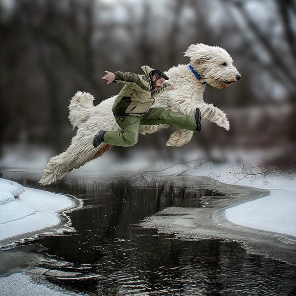 Amusing Photoshop manipulations With Giant Dog by Christopher Cline Wonderful Imaginative Adventures With Giant Dog by Christopher Cline
