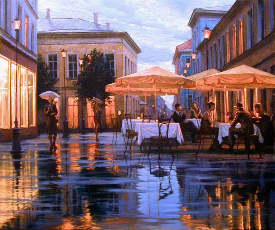 Beautiful Cityscape Painting Ideas 12 18 Gorgeous Night Cityscapes Paintings by Alexey Butyrsky