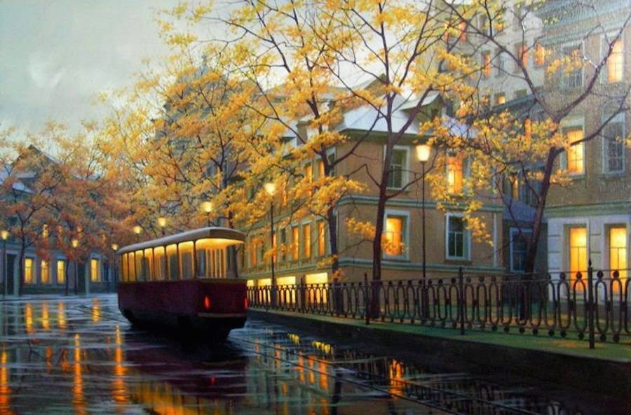 Beautiful Cityscape Painting Ideas 99 18 Gorgeous Night Cityscapes Paintings by Alexey Butyrsky