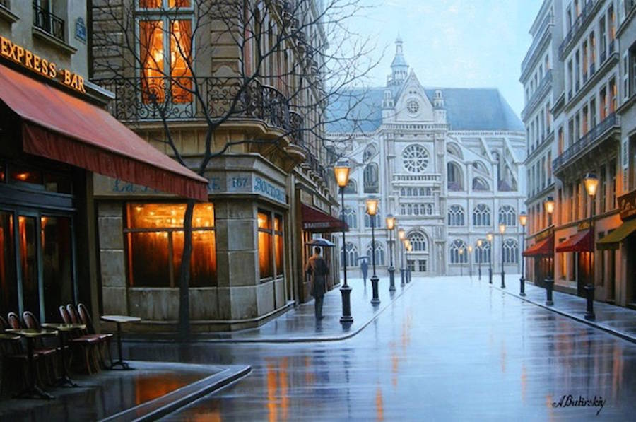 Beauty Night Cityscapes Paintings by Alexey Butyrsky 99 18 Gorgeous Night Cityscapes Paintings by Alexey Butyrsky