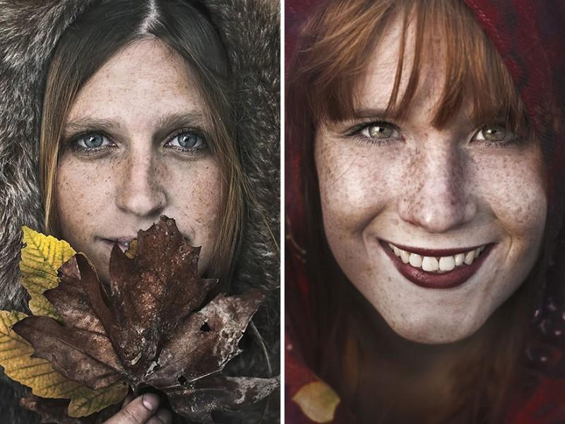 Conceptual Portrait Photography by Martina Špoljarić Pracaić Beauty Portrait of Freckles by Martina Špoljarić Pracaić
