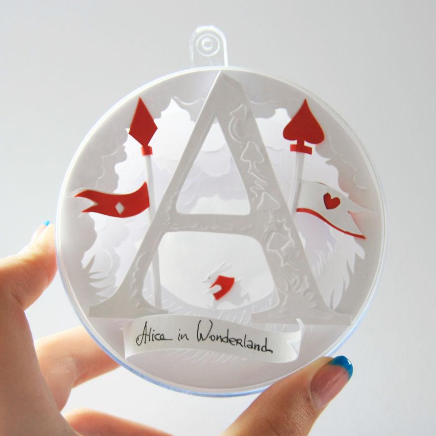 "Crazy Paper Cuts Create by Adamova Marina 03 Creative Paper Cuts Inspired By ""Alice In Wonderland"""